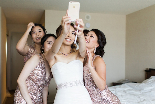 Wedding selfie - Leigh+Becca Photography