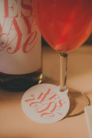 Rosé Wine Glass Tags- Cristina Navarro Photography