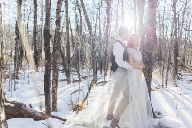 Beautiful wedding picture in the woods –  Mathew Irving Photography