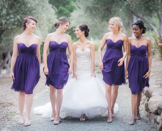 Purple Bridesmaid Dresses - Clane Gessel Photography