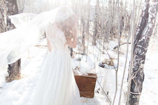 Snow Bridal portrait - Mathew Irving Photography