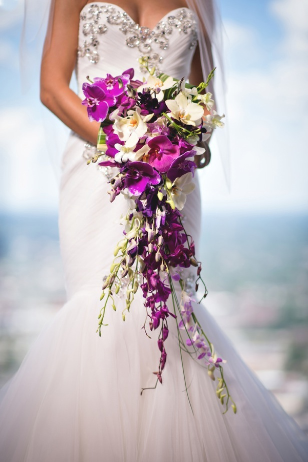 Cascading wedding bouquet - Dauss FOTO