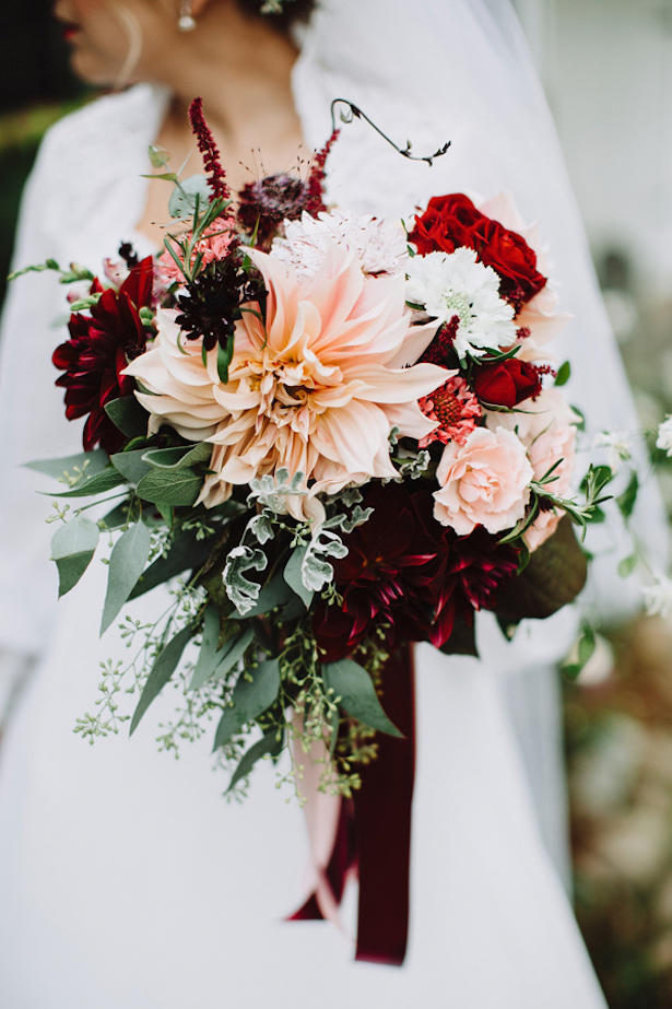 Fall Wedding Bouquet - photo by With Love and Embers