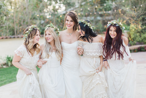 White bridesmaid dresses - Lucas Rossi Photography