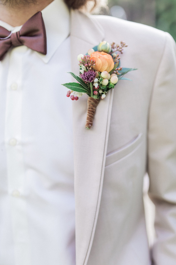 Groom boutonniere - Lucas Rossi Photography