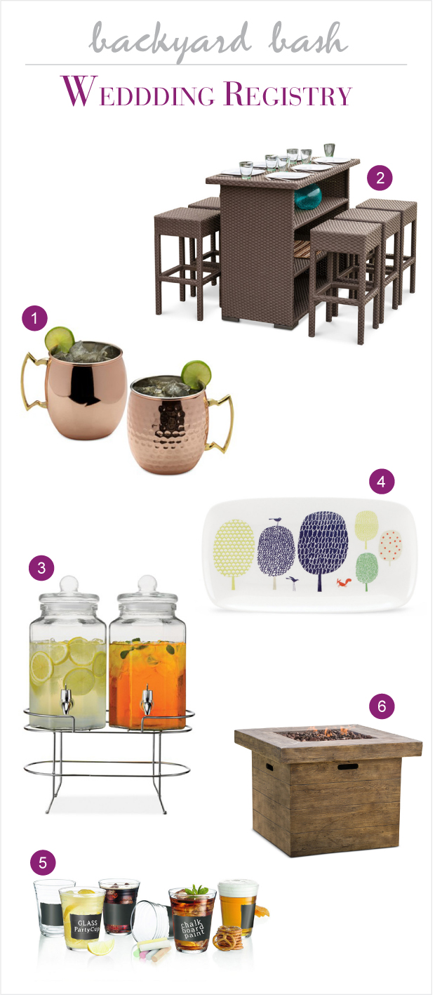 Macy's Wedding Registry for a Backyard Party