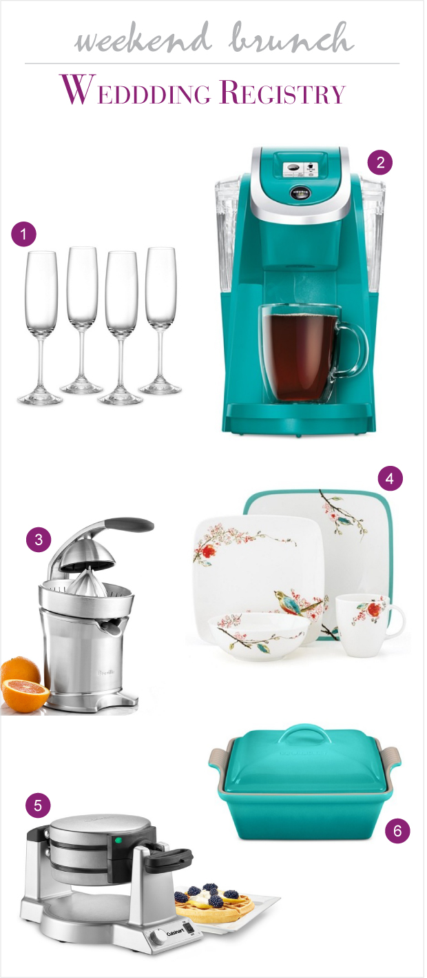 Macy's Wedding Registry for a Sunday Brunch