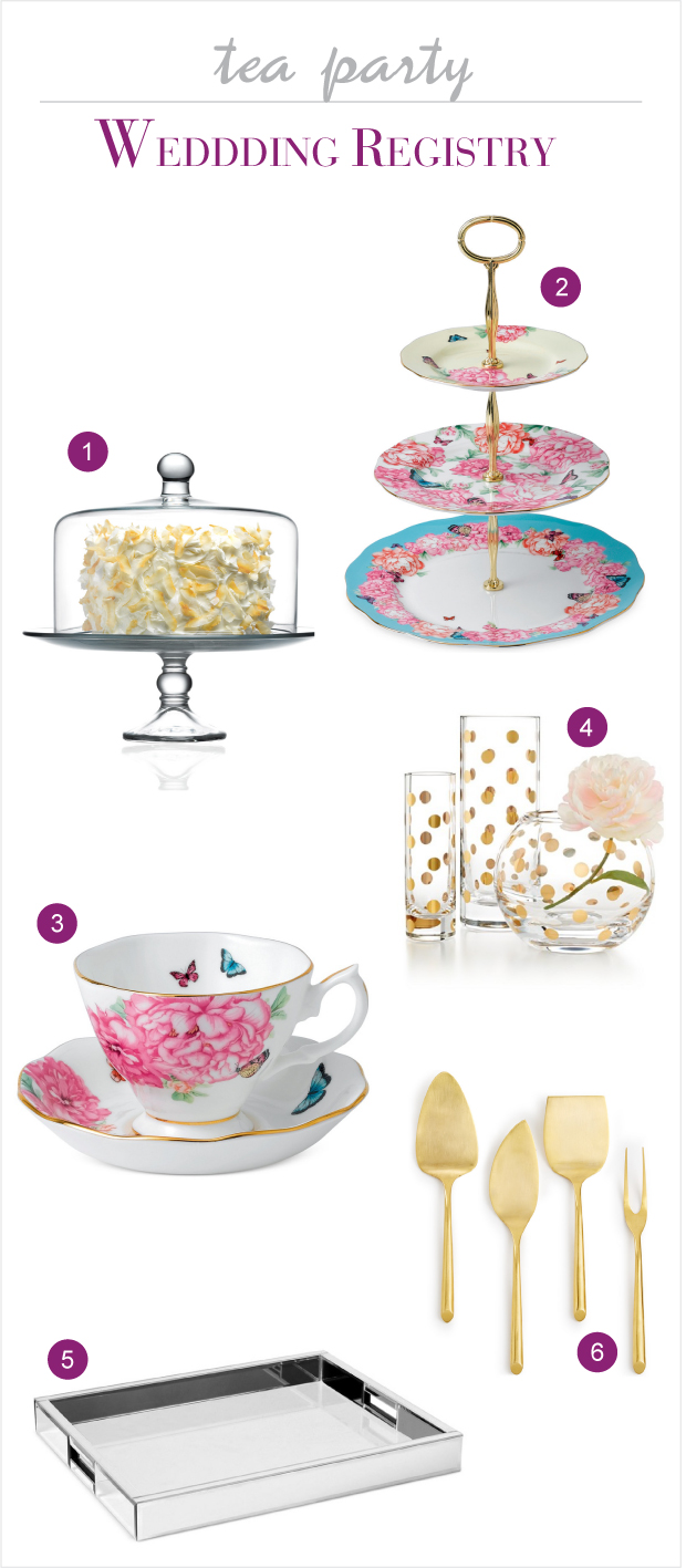 Macy's Wedding Registry for a Tea Party