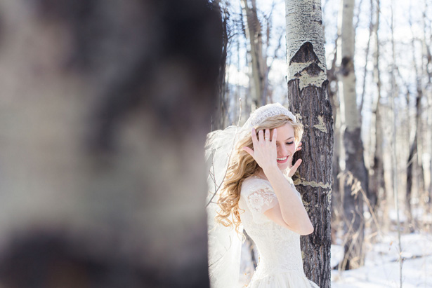 Outdoors bridal portrait –  Mathew Irving Photography