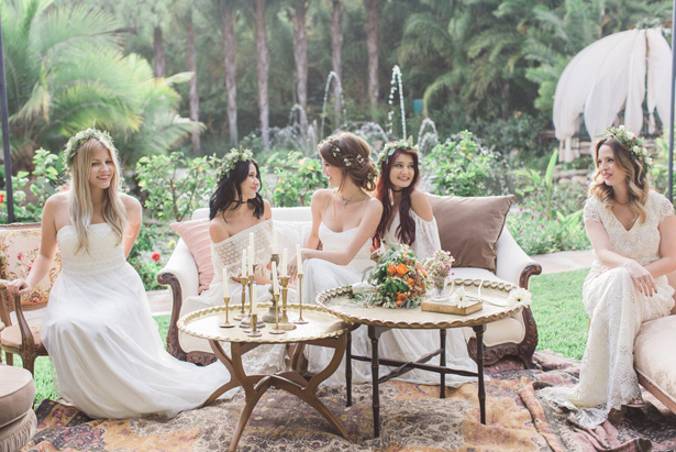 Bohemian Bridesmaids - Lucas Rossi Photography