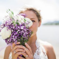 Wedding bouquet - Sage to Sea Film Photography