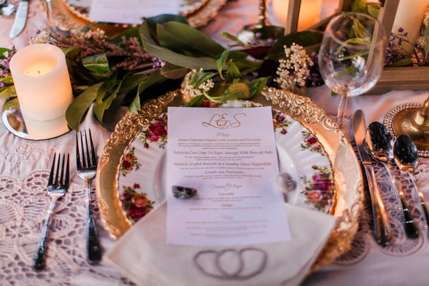 Wedding menu - Sage to Sea Film Photography