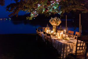 Weterfront Wedding Reception - Sage to Sea Film Photography