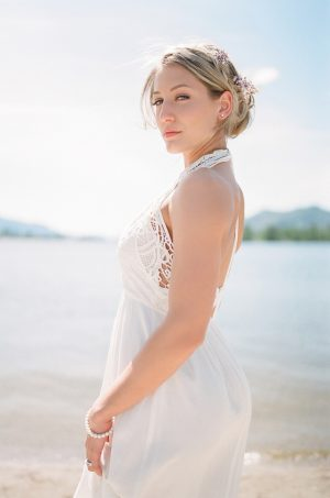 Bridal portrait - Sage to Sea Film Photography