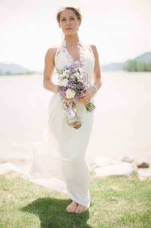 Bohemian bridal look - Sage to Sea Film Photography