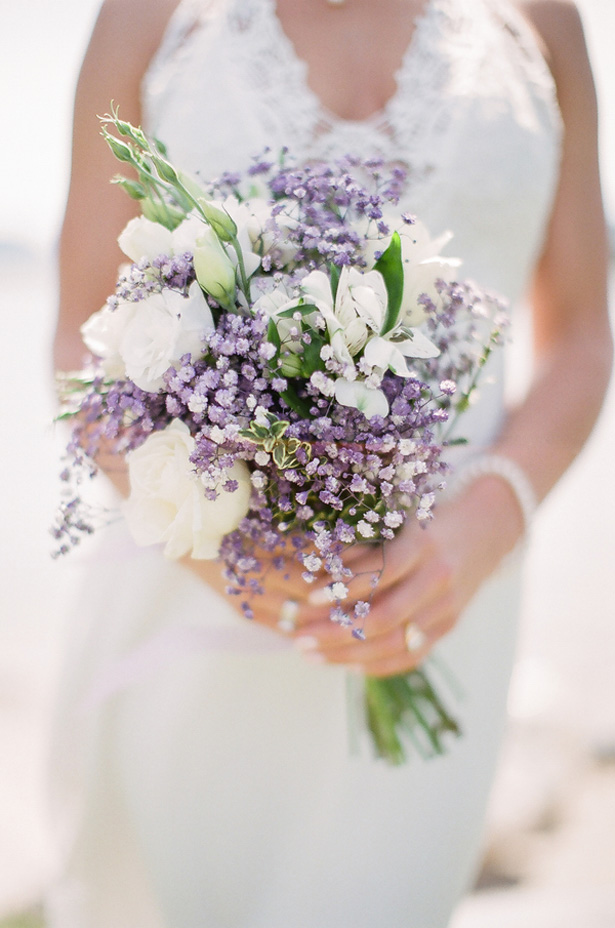 Lavender Wedding bouquet - Sage to Sea Film Photography
