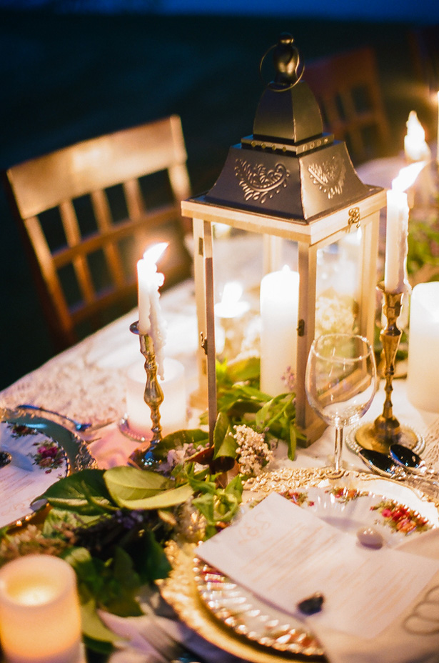 Wedding candles - Sage to Sea Film Photography