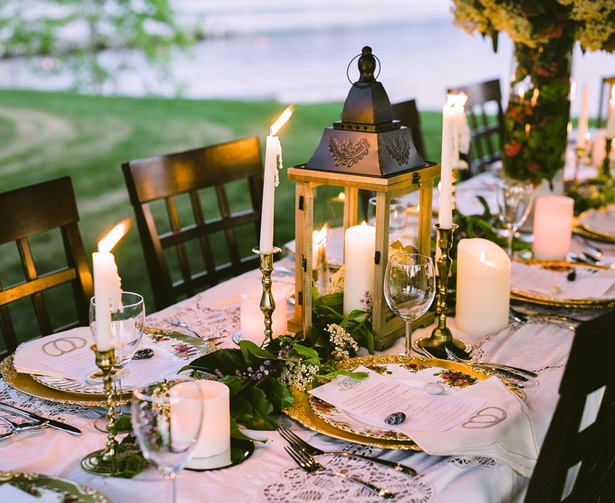 Vintage Wedding Tablescape - Sage to Sea Film Photography