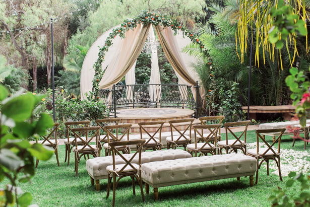 Outdoor Wedding Ceremony Decor - Lucas Rossi Photography