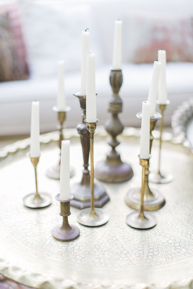 Vinage wedding Candles - Lucas Rossi Photography