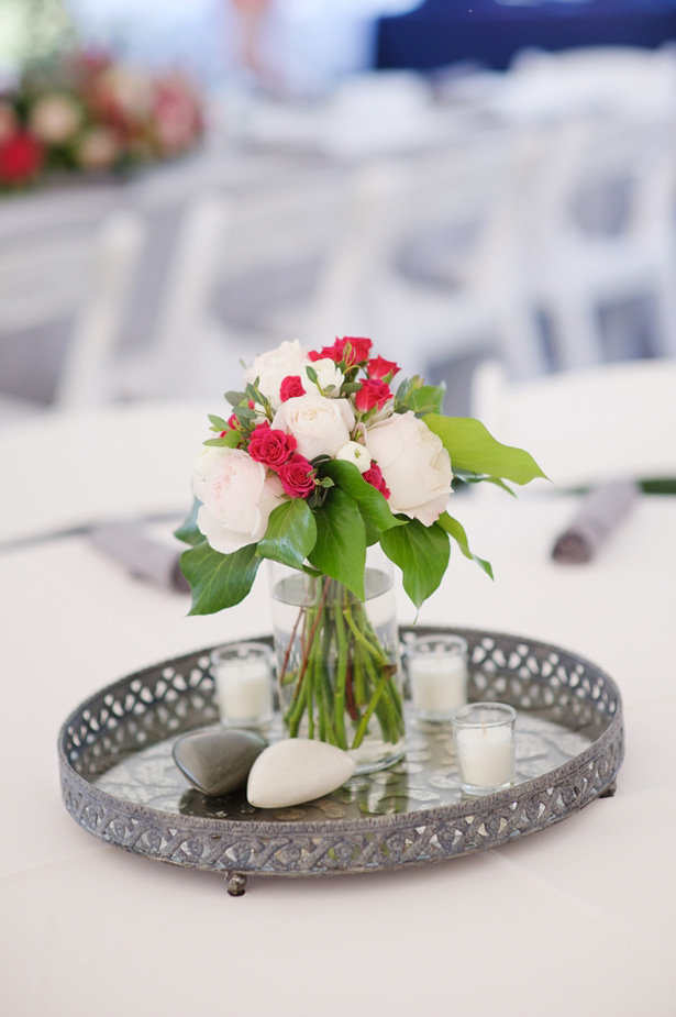 Wedding centerpiece - Justin Wright Photography