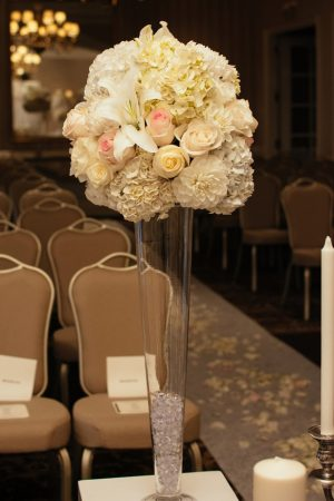 Wedding ceremony flowers - Will Pursell Photography