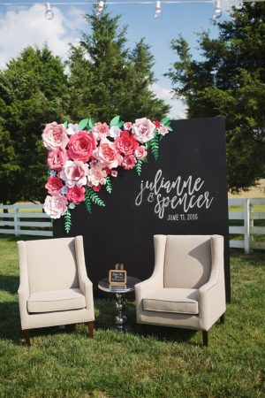 Wedding backdrop - Justin Wright Photography