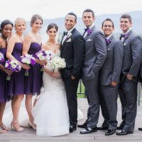 Purple Wedding Party - Clane Gessel Photography