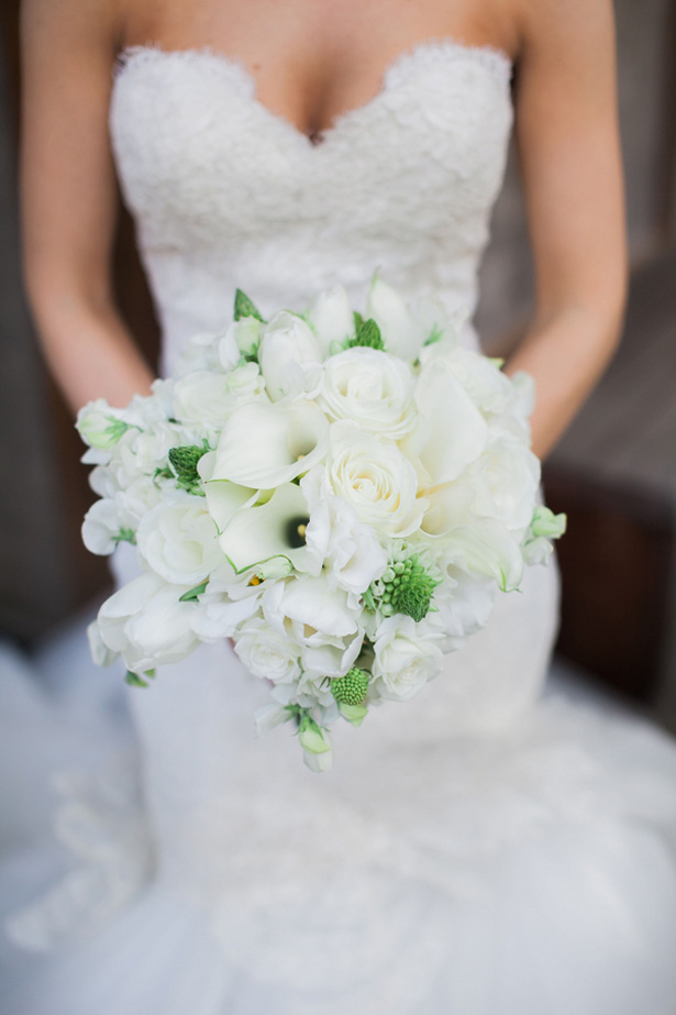 White wedding bouquet - Clane Gessel Photography