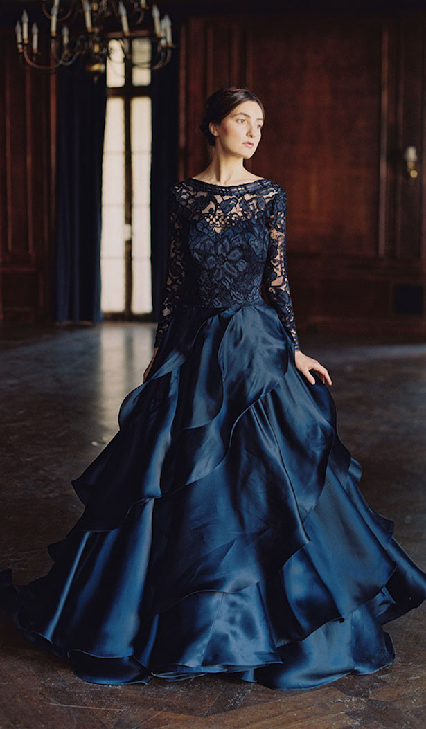 Bridal fashion black wedding dresses for Blue and black wedding dresses