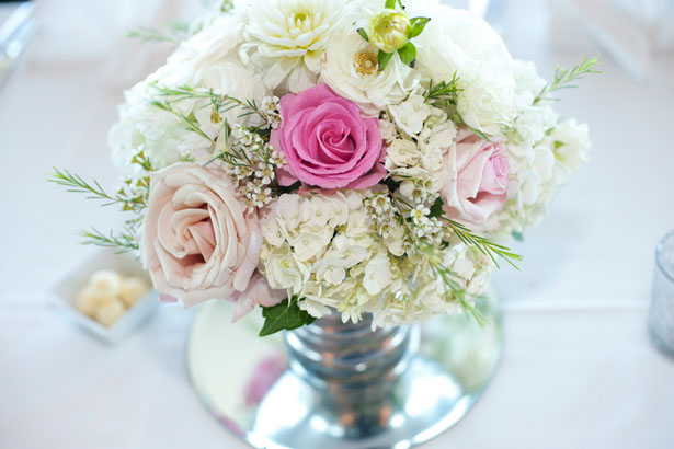 Wedding pink centerpiece - Tamytha Cameron Photography