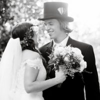 Black and white wedding portrait - Arte De Vie