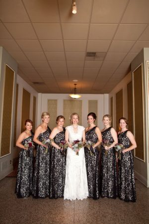 Black ace bridesmaid dresses - Mad Chicken Studio