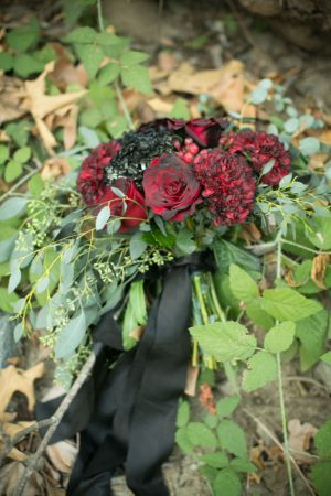 Red Roses wedding bouquet - Sweet Blooms Photography