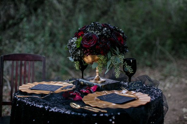 Black wedding details - Sweet Blooms Photography