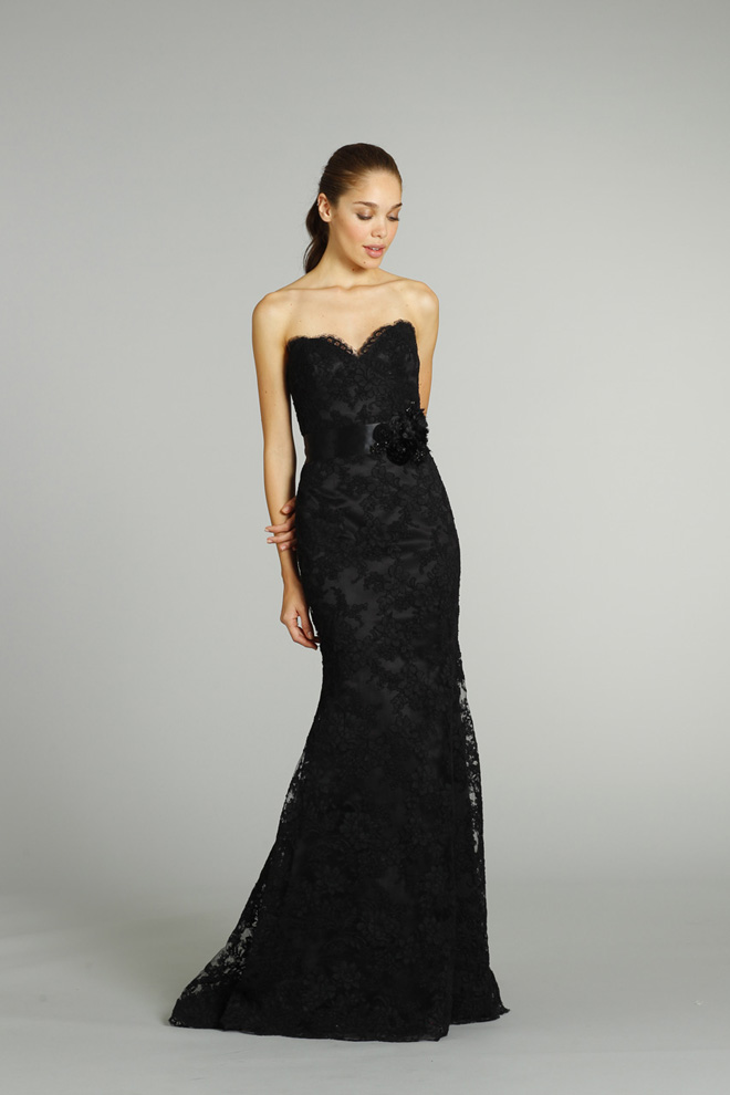 Black Wedding Dress - Jim Hjelm Fall 2012