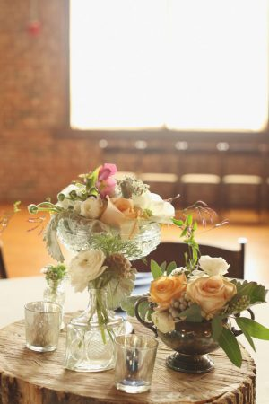 Glass wedding ceterpieces - j.woodbery photography