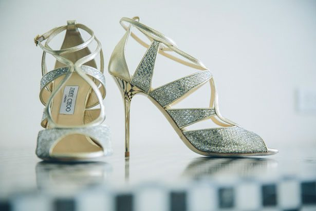 Gold bridal heels - Kane and Social