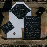 Gold wedding invitation - Sweet Blooms Photography