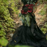 Halloween bride - Sweet Blooms Photography