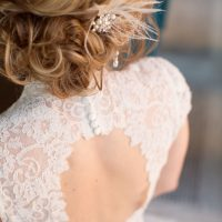 Lace back wedding dress - Mad Chicken Studio