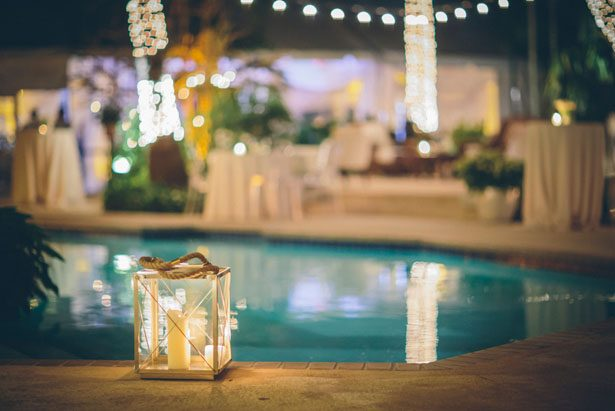 Poolside Wedding decor - Kane and Social