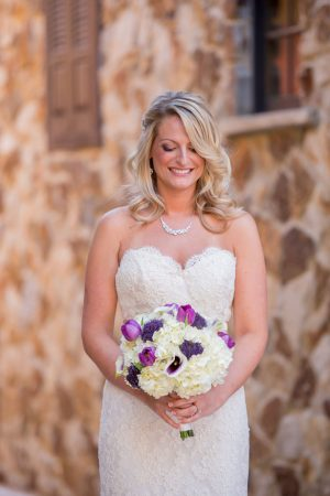 Purple wedding bouquet - Life's Highlights