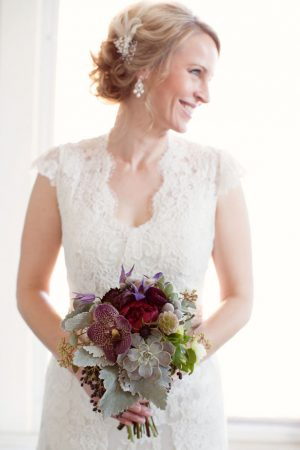 Purple wedding bouquet - Mad Chicken Studio