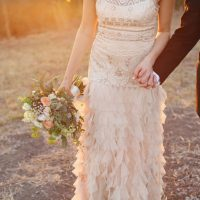 Ruffles wedding gown - j.woodbery photography