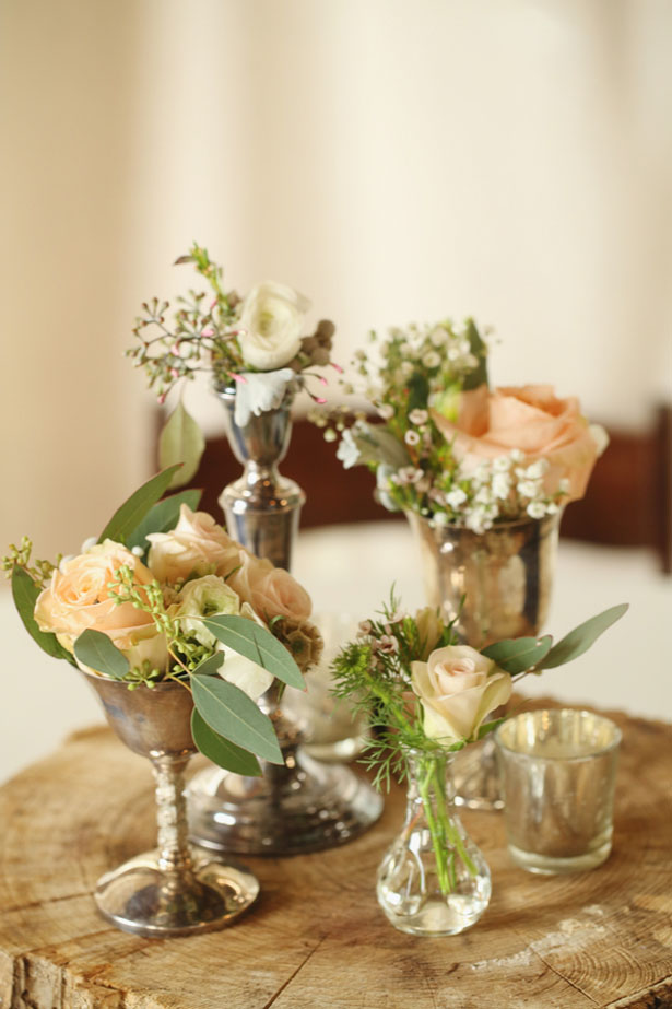 Rustic wedding centerpieces - j.woodbery photography