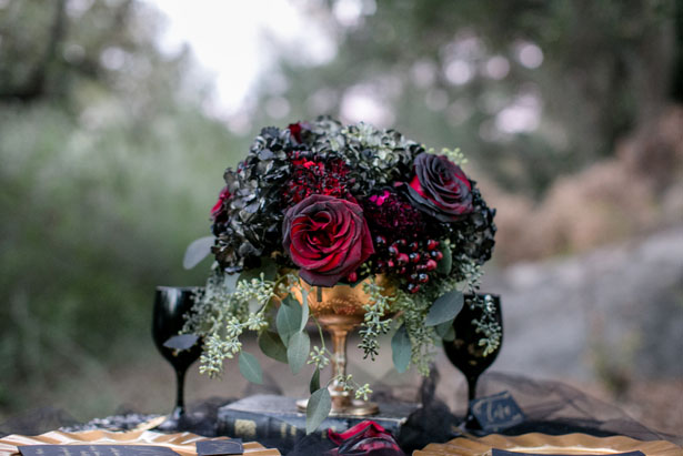 Short wedding centerpiece - Sweet Blooms Photography