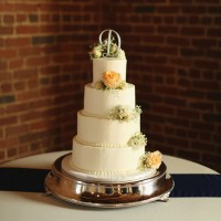 Tall wedding cake - j.woodbery photography