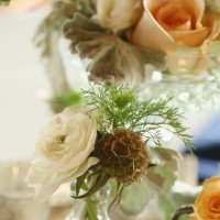 Vintage wedding centerpiece - j.woodbery photography