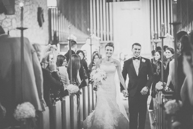 Wedding aisle portrait - Kane and Social